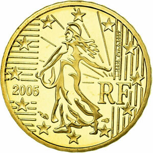 [#753895] France, 10 Euro Cent, 2005, Proof, FDC, Laiton, KM:1285