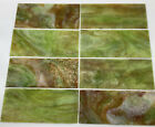 Lot Of 8  Vintage Green Slag Stained Glass   Slag Lamp Panel Pieces