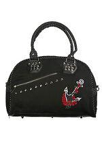 Banned Apparel Black Dot Anchor Roses Handbag Bag Purse Punk Goth Art BBN739BLK