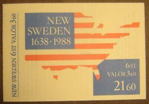 Sweden #1672-1677 Complete Booklet Mint Never Hinged F-VF Complete