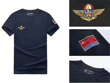 17's series China PLA Air Force Airborne Paratrooper Black T-shirt