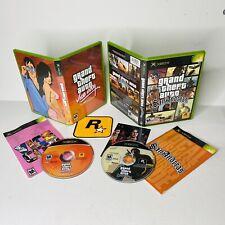 Original Xbox Gta Grand Theft Auto San Andreas Vice City w/ Manual No Map