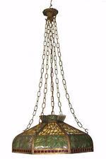 Glass green antique chandeliers fixtures ebay antique bradley hubbard stained glass brass chandelier amber green red aloadofball Gallery