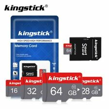 KINGSTICK MicroSD 128GB 32GB 16GB TF-Flash-Memory-Cards Class10 SD-Cards+Adapter