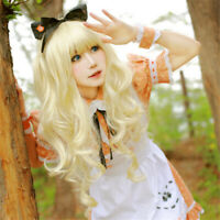 Fashion Cosplay Blonde Wig Lolita Girl Synthetic Hair Wavy Wig Party Costume US