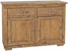 Medium Wood Tone Rustic Trolleys with Drawers