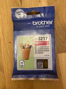 Genuine Brother LC3217 Original Magenta ink cartridge Expires March 2021