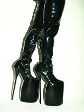 latex 30cm Overknee Stiefel 37 38 39 40 41 42 43 44 45 46 47 -Bolingier POLAND