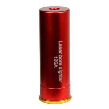 Boresighter CAL 12GA Cartridge Red Laser Bore Sight Bullet Shaped W/battery