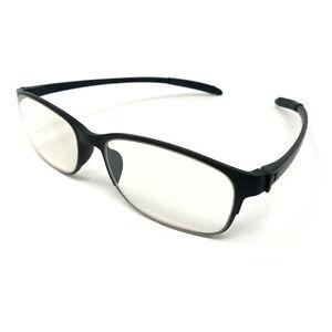 PariDeno Kunststoff Brille Lesebrille Schwarz Bügel flexibel biegsam Lesehilfe