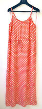 UNIT COLLECTION Gr S Rosa Lachs Polka Dot Freizeitkleid Strand Sommer Ärmellos