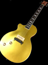 NEW LEFT HANDED LP STYLE GOLD TOP SINGLE P90 6 STRING ELECTRIC GUITAR
