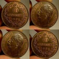 10 CENTESIMI 1893 UMBERTO I  FIOR DI CONIO RAME ROSSO ECCEZIONALE ITALY QUALITY