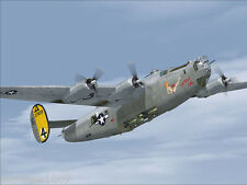 """Model Airplane Plans (UC): B-24 Liberator 73"""" Bomber • takes 2 or 4 engines"""