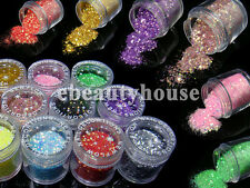 12 Colors Neon Glitter Slice Spangles Acrylic Nail Art Giant #031A