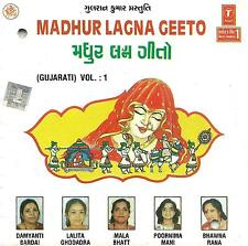 MADHUR LAGNA GEETO GUJARATI - VOL 1 - GUJRATI SONGS CD - FREE UK POST