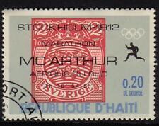 OLYMPICS STOCKHOLM 1912 SWEDEN MARATHON CTO NH HAITI 1969 STAMPS ON STAMPS