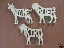 Alpine Boer or Kiko Goat Puzzle Amish Made Toy Choice