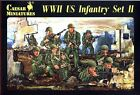 Caesar Miniatures 1/72 071 WWII US Infantry (Set II) !!