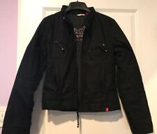 Esprit Edc Women Black Zipper Jacket Outerwear In XS