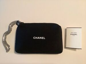 NEW CHANEL BLACK NEOPRENE COSMETIC CASE WITH FRAGRANCE
