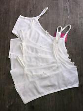 0e761fc77c 5 x Girls Primark White Crop Top First Bra Underwear Age 7 - 15 Years