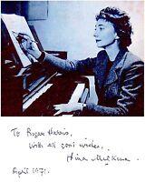 RUSSIAN Pianist NINA MILKINA Original SIGNED AUTOGRAPH + PHOTO + DECORATIVE MAT