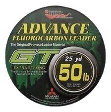 EUPRO GT FLUOROCARBON 50lb Leader Line - 25 YARD SPOOL - CLEAR