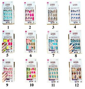 KISS Nails The Collection 24 Glue-On Nails Medium Length #62270 (Glue Dried Out)