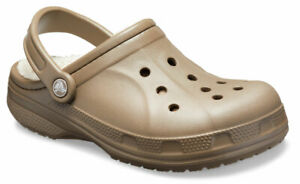 crocs Clog mit Fersenriemen Ralen Lined Clog Walnut / Oatmeal Croslite Normal Un