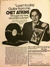 Chet Atkins, Strum Along Course, Full Page Vintage Promotional Ad