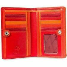 VISCONTI Penang RB109 Ladies Red/Multi Colored Leather Wallet Purse