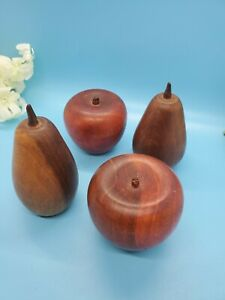 Solid Wood Apples And Pears Two Each Basket Listed Separately