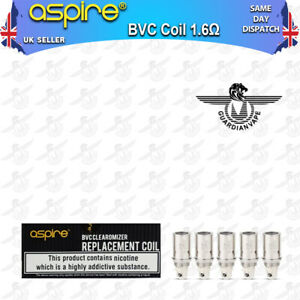 ASPIRE BVC COILS CLEAROMIZER 1.6 and  1.8 OHM OHM – PACK OF 5