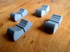 X 4 faders potentiomètre bouton table de mixage GRIS X 4 NEUF/ FIXATION 8 mm