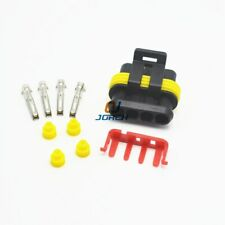 10 set 4 Pin  AMP Super seal Waterproof Electrical Wire Connector Plug  282088-1