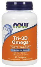 NOW Foods TRI-3D OMEGA Fish Oil 550mg, Vitamin D-3 1000 IU - 90 Softgels