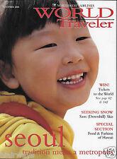 NORTHWEST AIRLINES WORLD TRAVELER MAGAZINE 11/2000 SEOUL KOREA-FOOD & FASHION