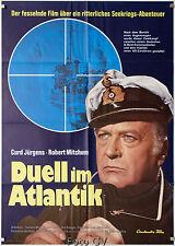 Duell im Atlantik The Enemy Below 1957 Robert Mitchum Curd Jürgens Filmplakat WA