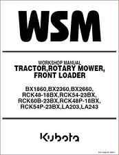 Kubota BX1860 BX2360 BX2660 tracteur Shop Manual (B277)