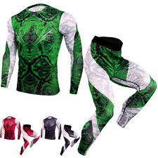 Men's Compression Athletic Baselayers Workout Legging Quick dry Shirts Tight fit