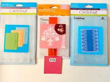 Cuttlebug Wedding Borders Scalloped Edge & Dutch Tulips Embossing Folders Lot