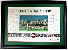 South Sydney Rabbitohs Hand Signed Framed Limited Edition Memorabilia