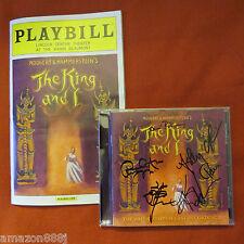 THE KING and I CD SIGNED KELLI O'HARA,KEN WATANABE,RUTHIE ANN MILES TONY AWARD