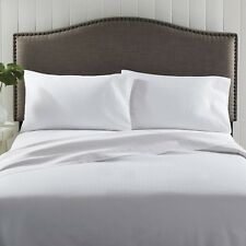 Better Homes and Gardens 300-Thread-Count Damask Stripe Sheet Set White Twin