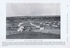 Inde britannique camp de cavalerie à betma-ANTIQUE PRINT 1897 photographique