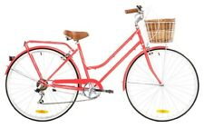 REID LADIES LITE 7SPD WATERMELON 42cm 700c BEACH CRUISER HYBRID WOMENS BIKE
