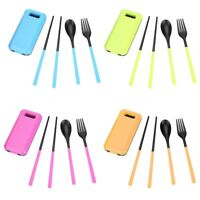 Outdoor Portable Safe Travel Picnic Camping Chopsticks+Spoon+Fork Tableware Set.