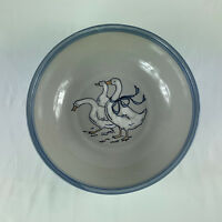 "Louisville Stoneware Gaggle of Geese Large Pasta Salad Serving Bowl 12 1/2"" USA"