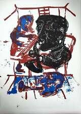 Markus Lüpertz, originale Farbserigraphie/Bütten, große Jazzgrafik, handsigniert